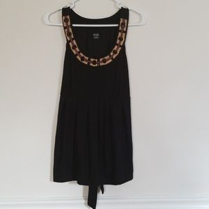 Black top with beading